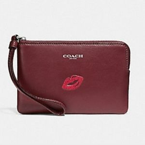Coach Wristlet with Lips💋
